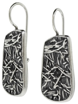 Buy Interweaving Textured Earrings in Sterling Silver