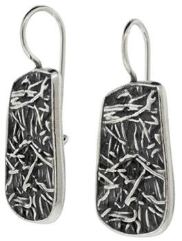 Buy Interweaving Textured Earrings in Sterling Silver