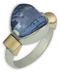 Buy Something Blue Topaz Ring in 14K Gold and Sterling Silver