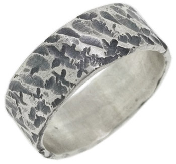 Buy Hand-Textured Sterling Silver Ring
