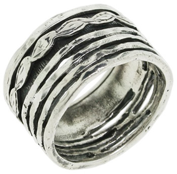 Buy Organic Leaf Spinner Ring in Sterling Silver