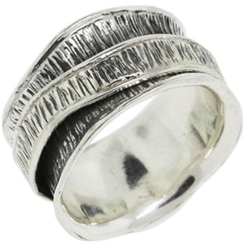Buy Etched Sterling Silver Spinner Ring