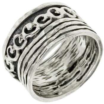Buy Organic Hearts Sterling Silver Spinner Ring