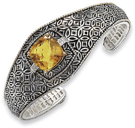 Town & Country Collection Sterling Silver and Citrine Cuff Bracelet