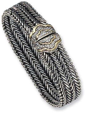 Town & Country Collection Sterling Silver and Diamond Bangle Bracelet