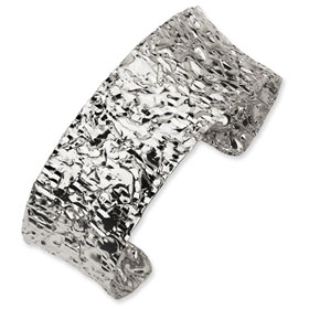 Buy Versil Collection Sterling Silver Hammered Cuff Bracelet