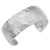 Versil Collection Sterling Silver Rustic Finish Cuff Bracelet