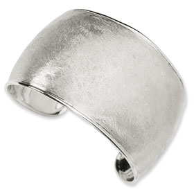Versil Collection Sterling Silver Brushed Finish Cuff Bracelet