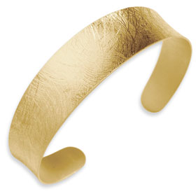Buy Versil Collection 18K Yellow Gold Plated Sterling Silver Brushed Finish Cuff Bracelet