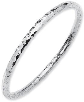 Buy Sterling Silver Hammered Bangle Bracelet