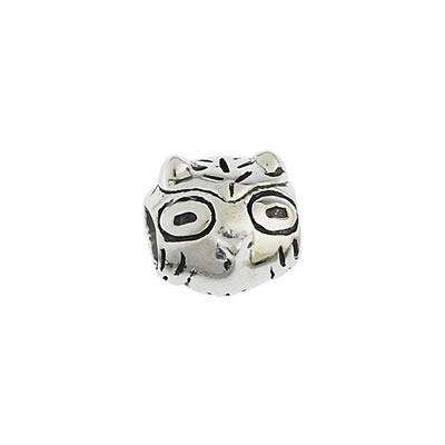Owl Bead in Sterling Silver