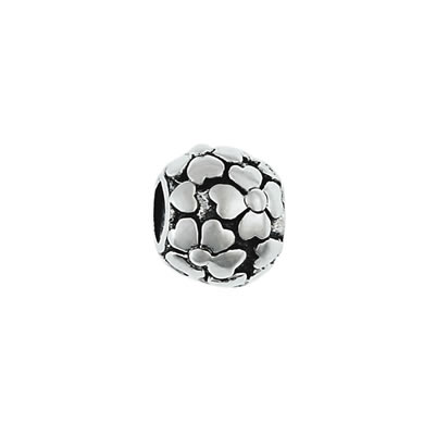 Flower Petals Bead in Sterling Silver