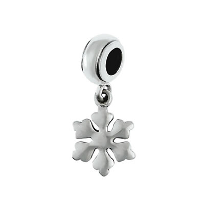 Snowflake Dangle in Sterling Silver