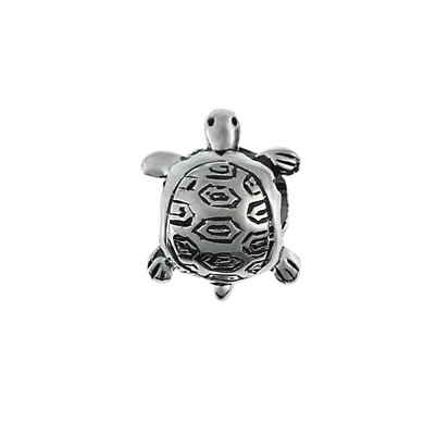 Turtle Bead in Sterling Silver