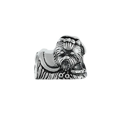 Yorkshire Terrier Bead in Sterling Silver