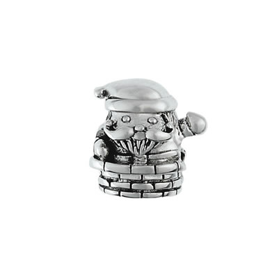 Santa Claus Chiminey Bead in Sterling Silver