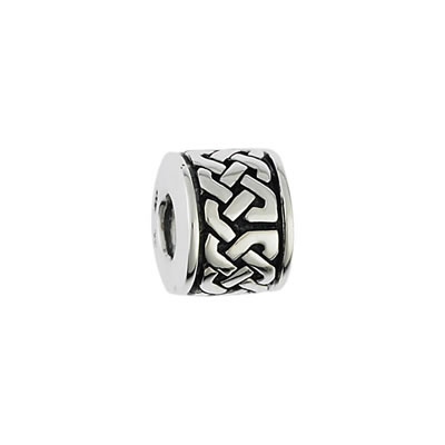 Celtic Bead in Sterling Silver