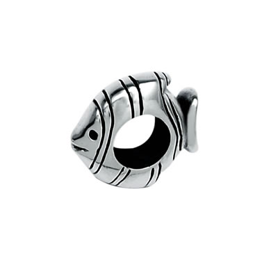 Fish Spacer in Sterling Silver