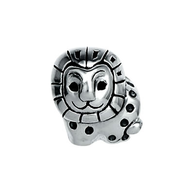 Lion Bead in Sterling Silver