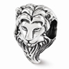 Lion Head Bead in Sterling Silver