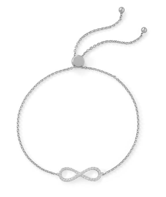 Infinity Friendship Bolo Bracelet, Sterling Silver