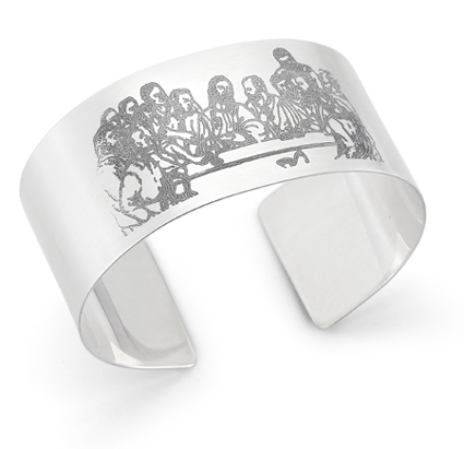 Last Supper Cuff Bracelet, Sterling Silver