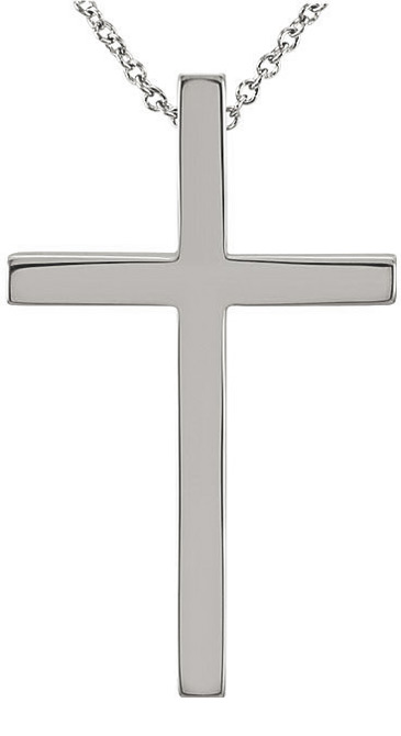 sterling silver cross necklace with hidden bale for women