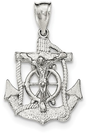 Mariner Crucifix Pendant, Sterling Silver