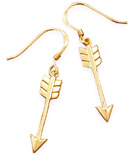14K Gold Plated Aim High Arrow Earrings