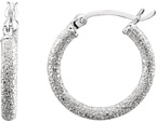 Stardust Hoop Earrings in Sterling Silver