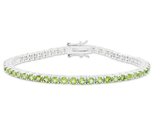 peridot tennis bracelet silver