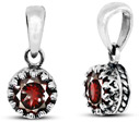Real Garnet Gemstone Pendant in Sterling Silver