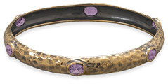Bronze and Amthyst Bangle Bracelet
