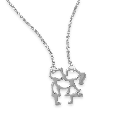Sterling Silver Young Love Necklace