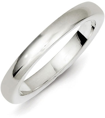 Sterling Silver 3mm Comfort Fit Wedding Band