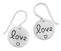 Love Earrings, Sterling Silver