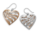 Two Tone Reversible Heart Earrings