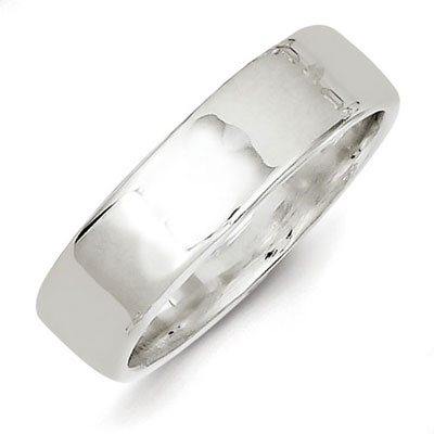 Sterling Silver 6mm Flat Band