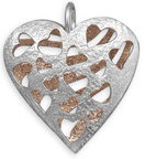 Two Tone Reversible Heart Pendant