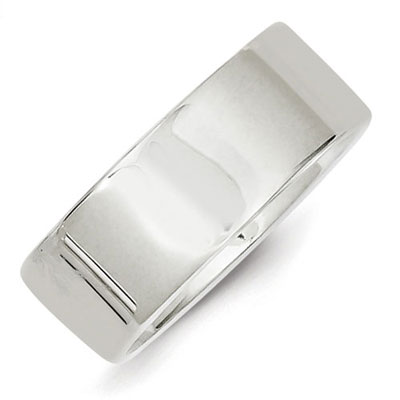 Sterling Silver 8mm Flat Band