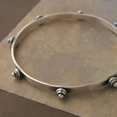 Buy Sterling Silver Stud Bangle