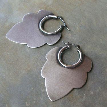Buy Acanthus Hoop Sterling Silver Earrings