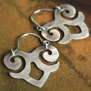 Sterling Silver Maya Hoop Earrings