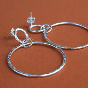 Buy Sterling Silver Drop Hoop Earings