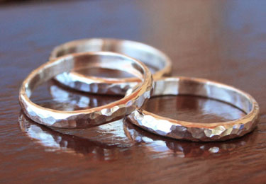 Shiny Sterling Silver Stacking Rings - FINAL SALE - Size 6