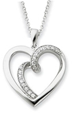 One Flesh Sterling Silver Heart Pendant