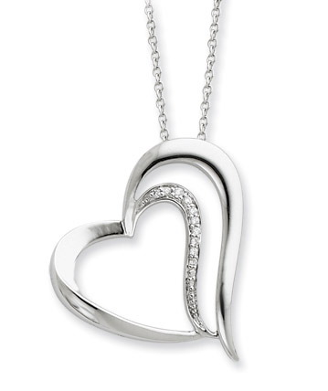 A Restored Heart Sterling Silver Pendant
