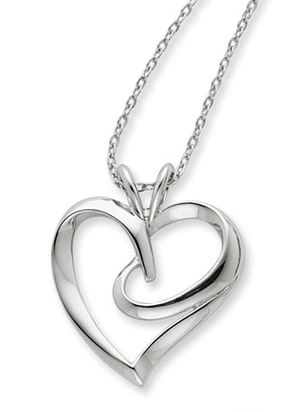 The Hugging Heart Sterling Silver Pendant