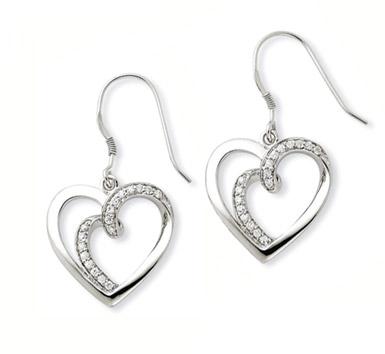 Soulmate Sterling Silver Heart Earrings