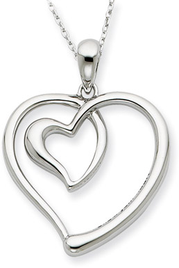 Follow Your Heart Sterling Silver Pendant